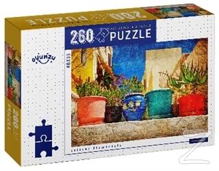 Colored Flowerspots 260 Parça Puzzle