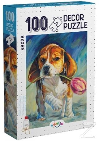 Decor Sevimli Köpek 100 Parça Puzzle