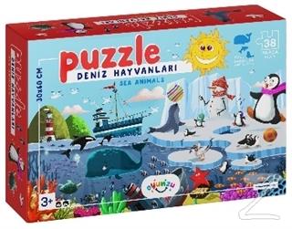 Deniz Hayvanları 38 Parça Puzzle