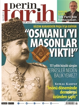 Derin Tarih Aylık Tarih Dergisi Sayı: 39 Haziran 2015