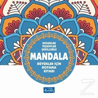 Desenler Tezhipler Şekillerle Mandala - Mavi Kitap