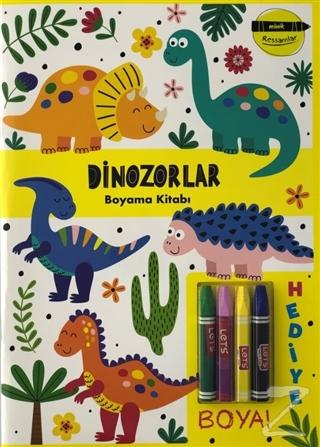 Dinozorlar Boyama Kitabı - Minik Ressamlar