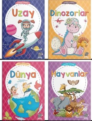 Eğitici Eğlendirici Çıkartma Kitabı Serisi (4 Kitap Takım)