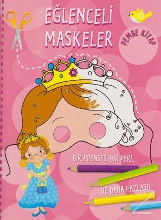 Eğlenceli Maskeler Pembe Kitap