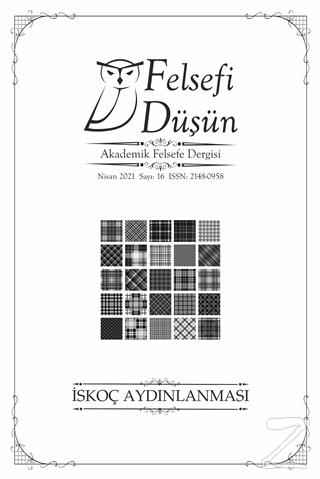 Felsefi Düşün Dergisi Sayı: 16 Nisan 2021