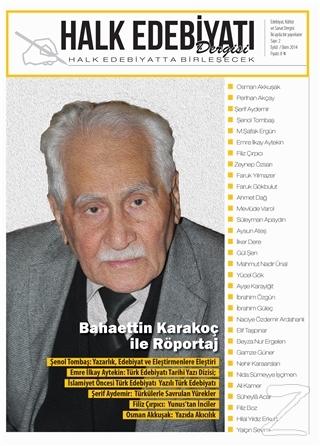 Halk Edebiyatı Dergisi Sayı : 2 / Eylül-Ekim 2014