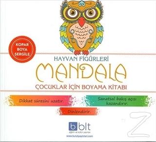 Hayvan Figürleri - Mandala Çocuklar İçin Boyama Kitabı