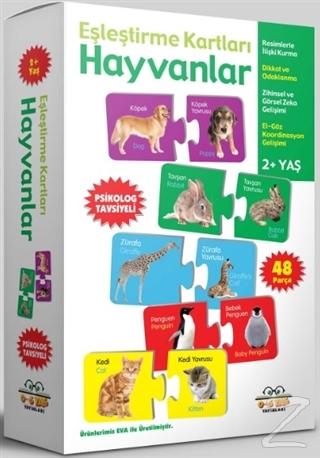 Hayvanlar - Eşleştirme Kartları (2+ Yaş)