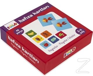 Hayvanlar - Meyveler - Sebzeler - Hafıza Kartları
