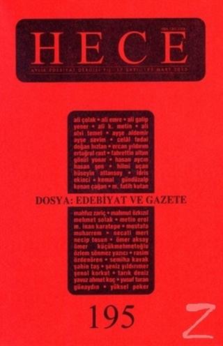 Hece Aylık Edebiyat Dergisi Sayı: 195