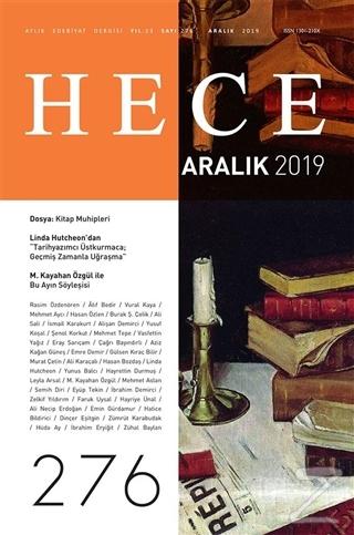 Hece Aylık Edebiyat Dergisi Sayı: 276 Aralık 2019