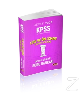 Hedef 2020 KPSS Lise ve Önlisans Adayları İçin Tamamı Çözümlü Soru Bankası