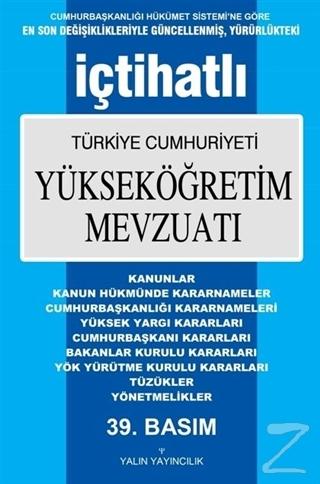 İçtihatlı Türkiye Cumhuriyeti Yükseköğretim Mevzuatı