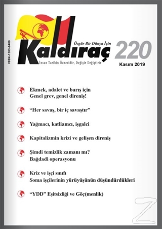 Kaldıraç Dergisi Sayı: 220 Kasım 2019