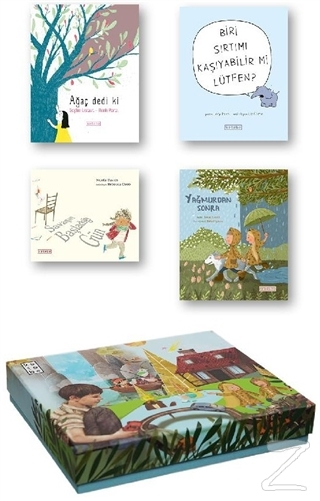 Ketebe Çocuk Kutulu Set 4 (4 Kitap Takım) (Ciltli) Kolektif