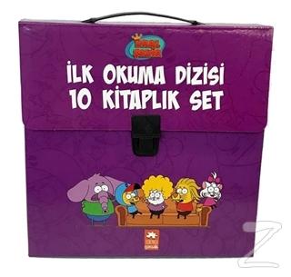 Kral Şakir İlk Okuma Kitapları Çantalı Set (10 Kitap Takım) - Mor