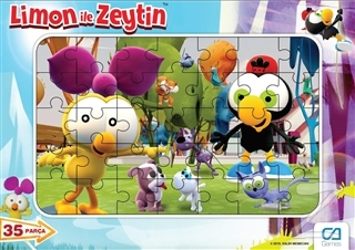 CA Games Limon ile Zeytin - Frame Puzzle 1 - Mavi (35 Parça)