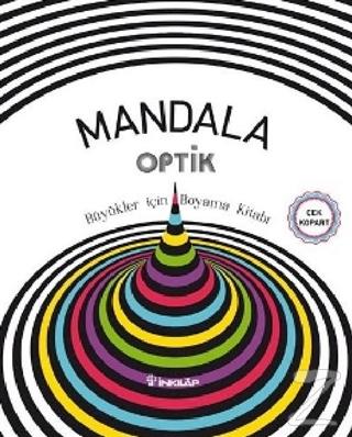 Mandala Optik - Büyükler İçin Boyama Kitabı