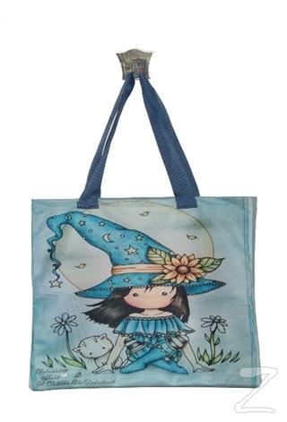 Mavi Şapkalı Kız Bez Çanta Kod - 330106
