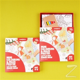 Mini Colouring and Maze Poster Little Red Riding Hood