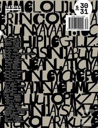 Natama Şiir ve Eleştiri Dergisi Sayı: 30-31 Nisan - Eylül 2021
