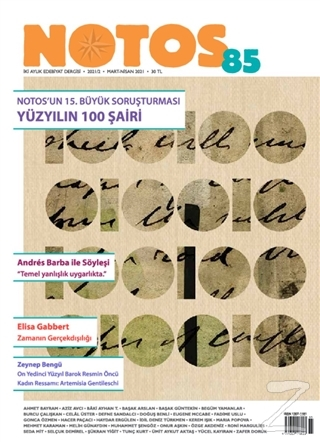 Notos Öykü Dergisi Sayı: 85 Mart-Nisan 2021