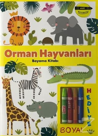 Orman Hayvanları Boyama Kitabı - Minik Ressamlar Kolektif