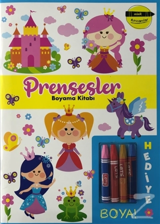 Prensesler Boyama Kitabı - Minik Ressamlar Kolektif