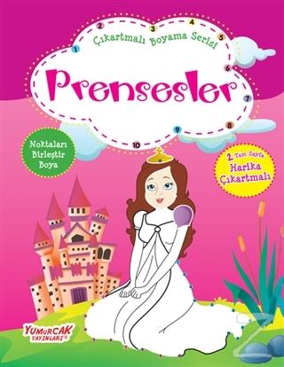 Prensesler - Çıkartmalı Boyama Serisi