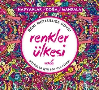 Renkler Ulkesi Hayvanlar Doga Mandala Buyukler Icin Boyama Kitabi