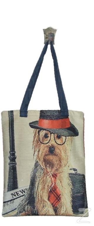 Şapkalı Köpek Bez Çanta Kod - 330107