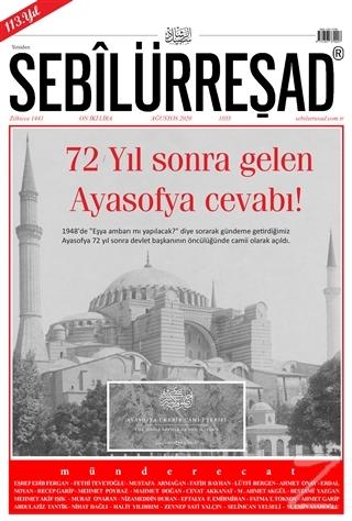 Sebilürreşad Dergisi Sayı: 1055 Ağustos 2020