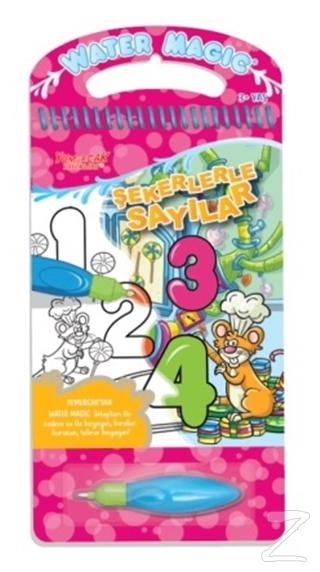 Şekerlerle Sayılar - Water Magic Boyama Kitabı