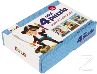 Eolo Sevimli Korsanlar - 4 Mini Puzzle