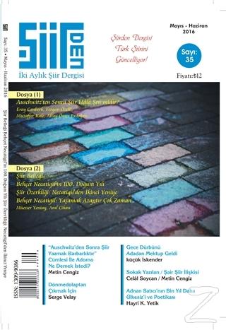 Şiirden İki Aylık Şiir Dergisi Sayı: 35 Mayıs-Haziran 2016
