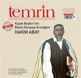 Temrin Aylık Düşünce ve Edebiyat Dergisi Sayı: 110 Aralık 2020