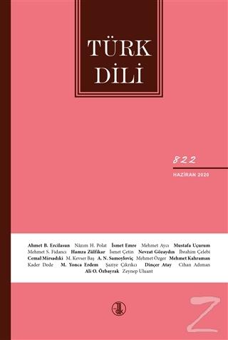 Türk Dili Dergisi Sayı: 822 Haziran 2020
