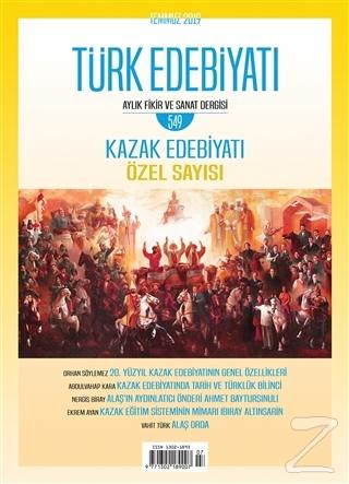 Türk Edebiyatı Dergisi Sayı: 549 Temmuz 2019