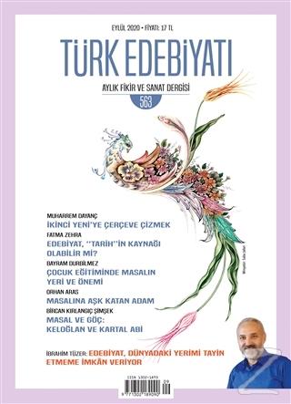 Türk Edebiyatı Dergisi Sayı: 563 Eylül 2020