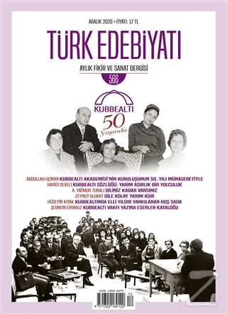 Türk Edebiyatı Dergisi Sayı: 566 Aralık 2020