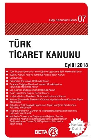Türk Ticaret Kanunu (Eylül 2018)