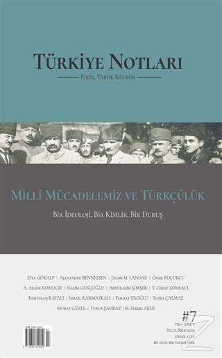 Türkiye Notları Fikir Tarih Kültür Dergisi Sayı: 7 Kolektif