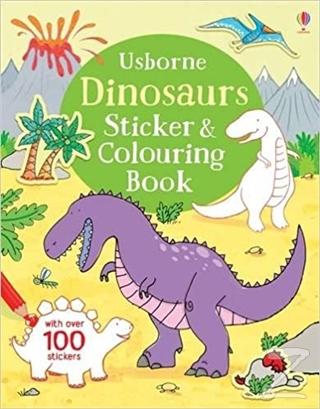 USB - Dinosaurs Sticker & Colouring Book