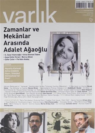 Varlık Edebiyat ve Kültür Dergisi Sayı: 1356 Eylül 2020
