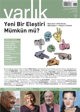 Varlık Edebiyat ve Kültür Dergisi Sayı: 1358 Kasım 2020