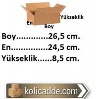 Tek Oluklu Kutu 26,5x24,5x8,5 cm.