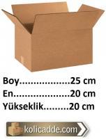 Boş Koli Kutu 25x20x20 cm