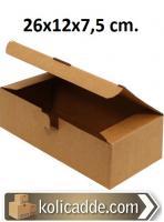 Kilitli Karton Kutu 26x12x7,5 cm.