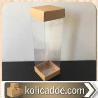 Asetatlı Çift Taraf Kraft Kutu 6x6x25 cm.