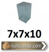 Komple Şeffaf Asetat Kutu 7x7x10 cm.